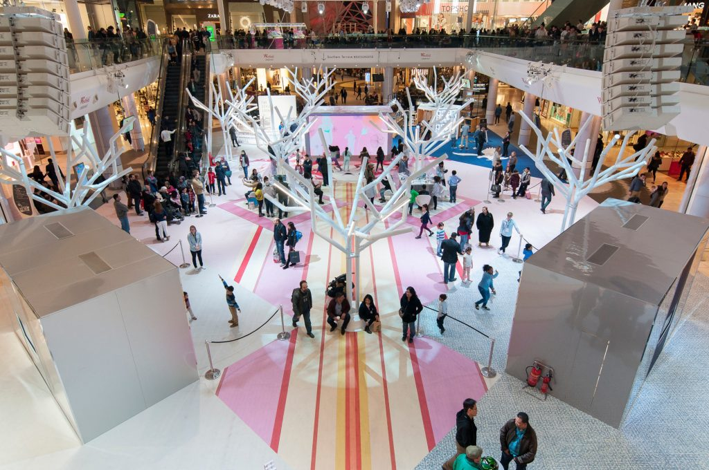 Floor Graphics in westfield shopping shopping centre